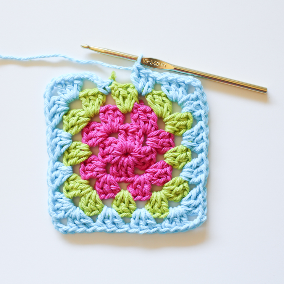 Crochet Basic Granny Square Tutorial : Crochet Granny Square Tutorial Loganberry Handmade