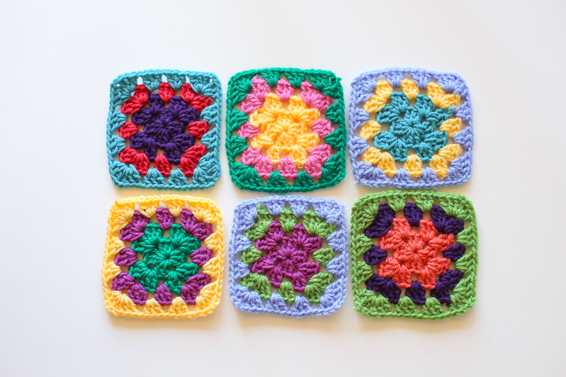 Crochet Granny Squares Free Pattern