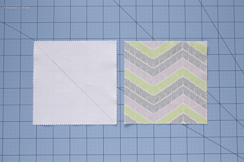 How to Sew Two Half Square Triangles