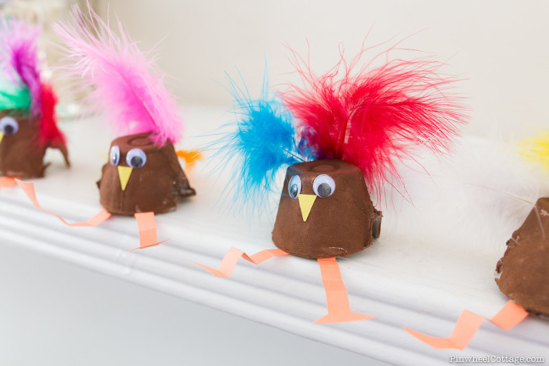 Thanksgiving Kids Craft with Egg Cartons, egg carton turkey, turkey crafts, thanksgiving crafts for kids, diy turkey decorations