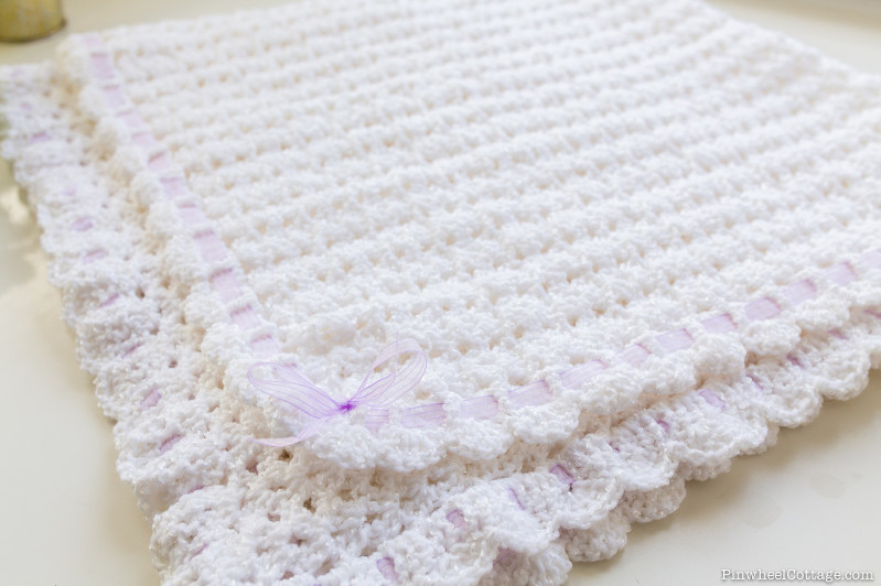 Crochet Baby Afghan White
