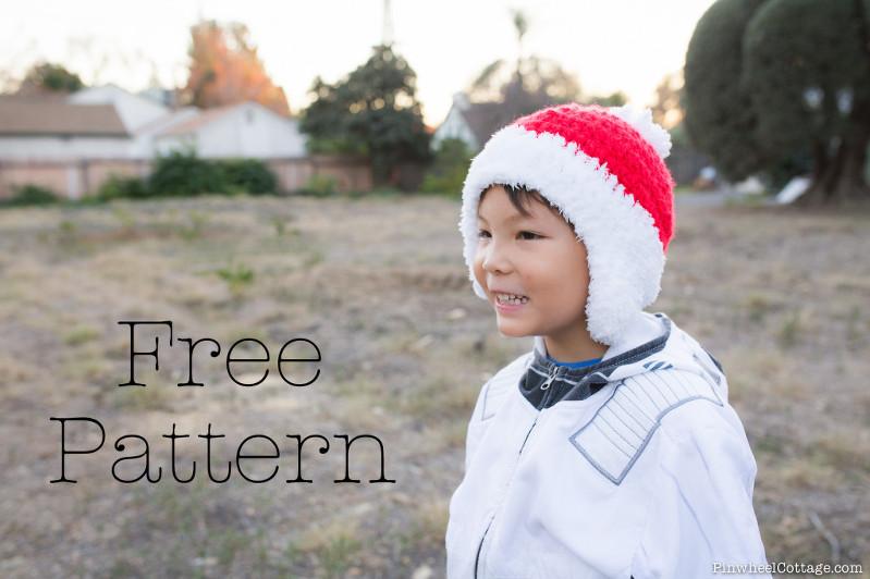 Crochet Santa Beanie Free Pattern, crochet santa hat tutorial