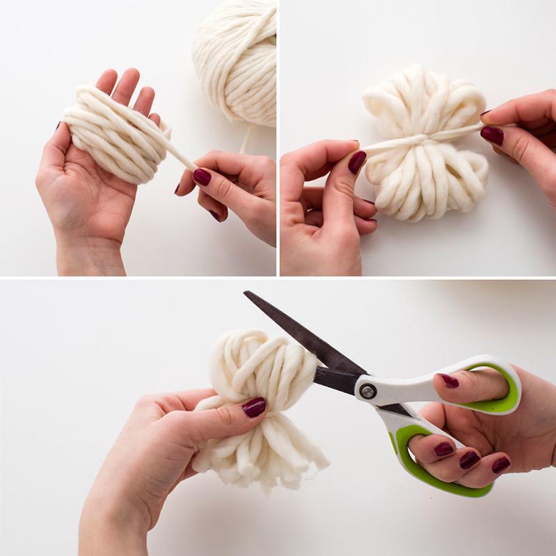 How to make a pom-pom with yarn, pom-pom tutorial