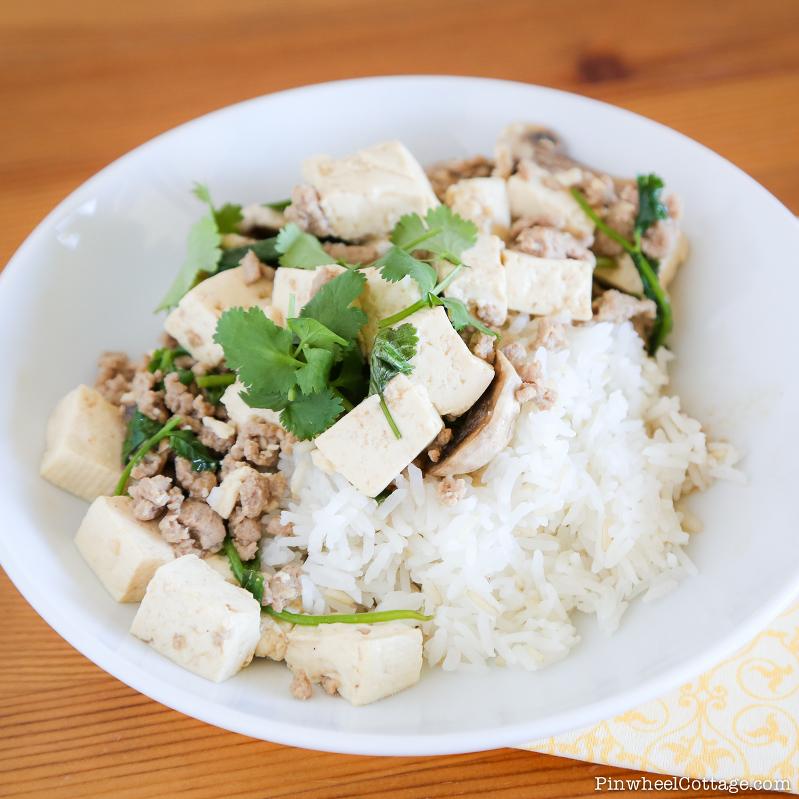 Turkey & Tofu Asian Stirfry
