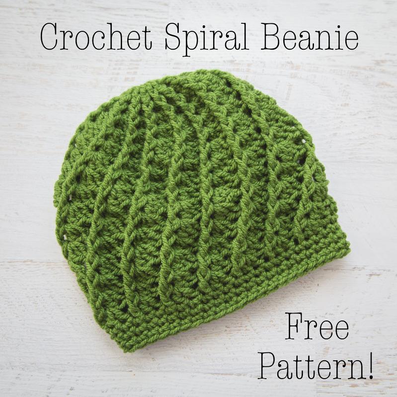 Crochet Spiral Beanie Free Crochet Pattern Loganberry Handmade