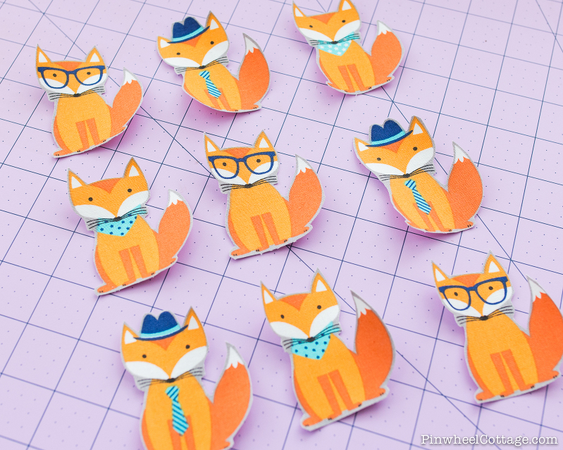 Little foxes applique, little foxes with glasses, hats, and bandanas