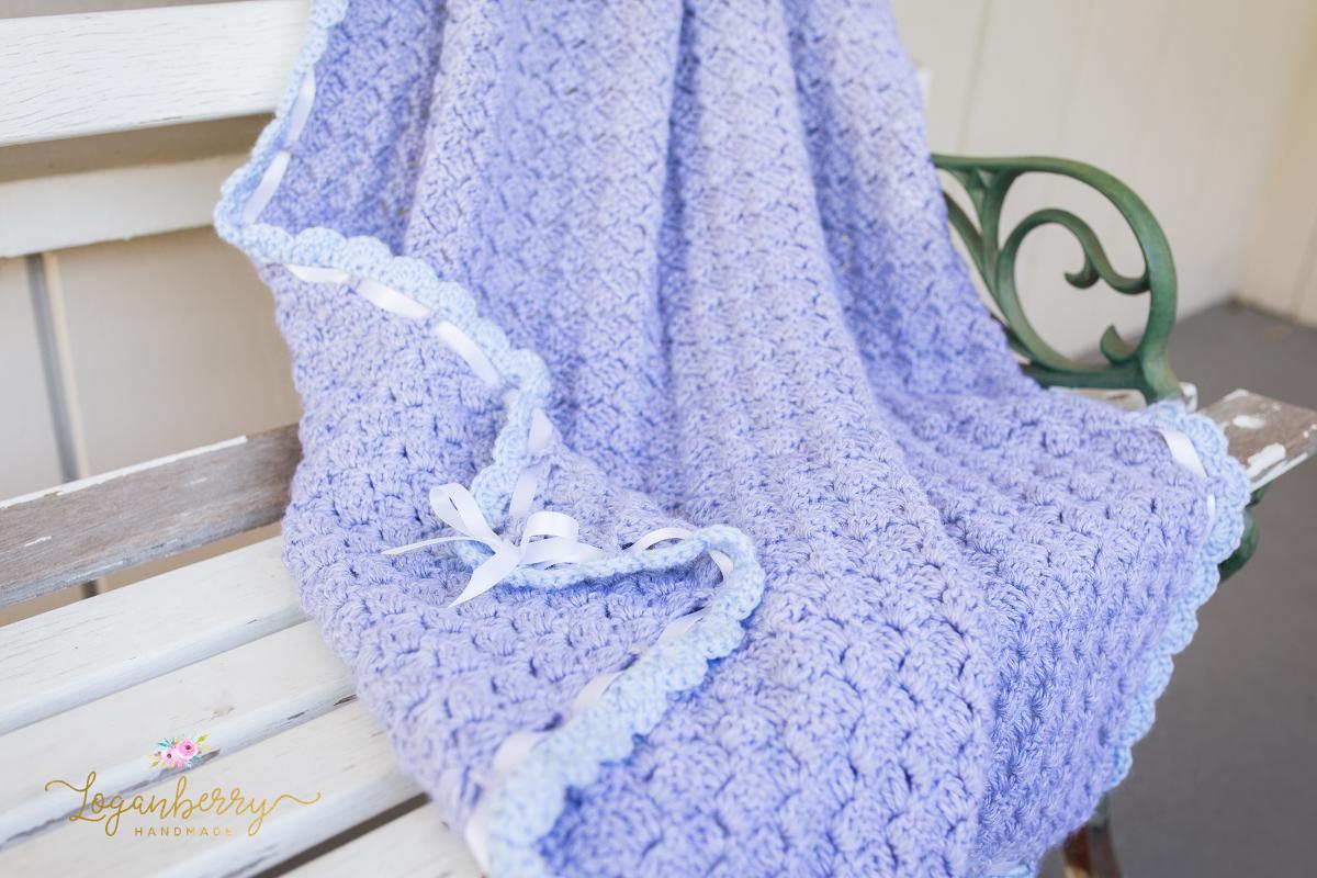 Baby Blue Scallops Crochet Blanket ? Free Crochet Pattern ...