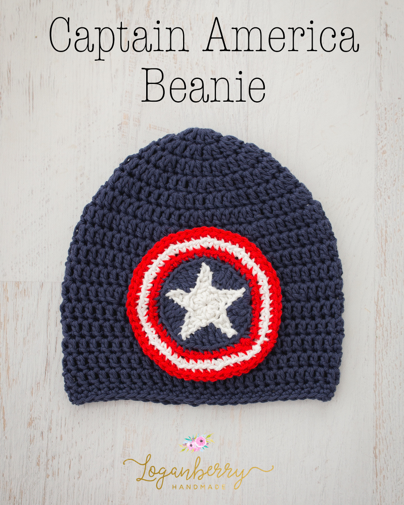 Captain America Beanie Free Crochet Pattern Loganberry Handmade