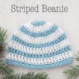 baby beanie crochet pattern, free crochet pattern, baby beanie tutorial, newborn beanie hat, striped beanie pattern, basic beanie crochet pattern, how to crochet a baby beanie, kids beanie, childrens beanie, toddler beanie