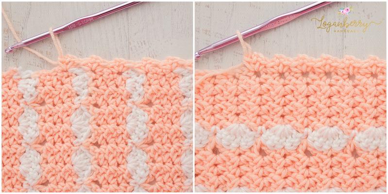 Peaches Cream Baby Blanket Free Crochet Pattern Loganberry Mesmerizing Peaches And Cream Yarn Crochet Patterns