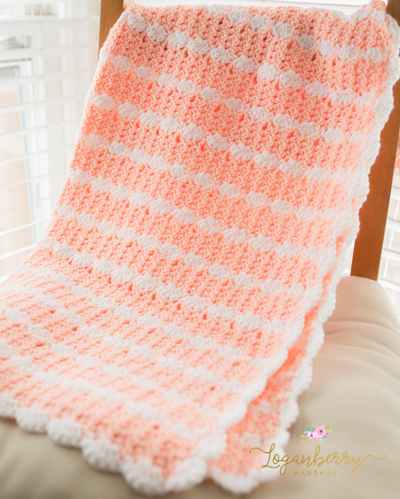 Free Crochet Baby Patterns For Blankets : Peaches & Cream Baby Blanket ? Free Crochet Pattern ...