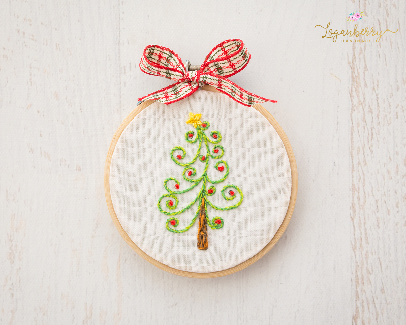 embroidered christmas tree hoop art hoop art ornament holiday embroidery christmas tree embroidery - Embroidered Christmas Ornaments