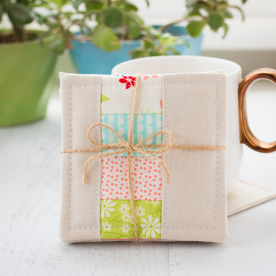 Patchwork coasters sewing tutorial loganberry handmade for Handmade useful items