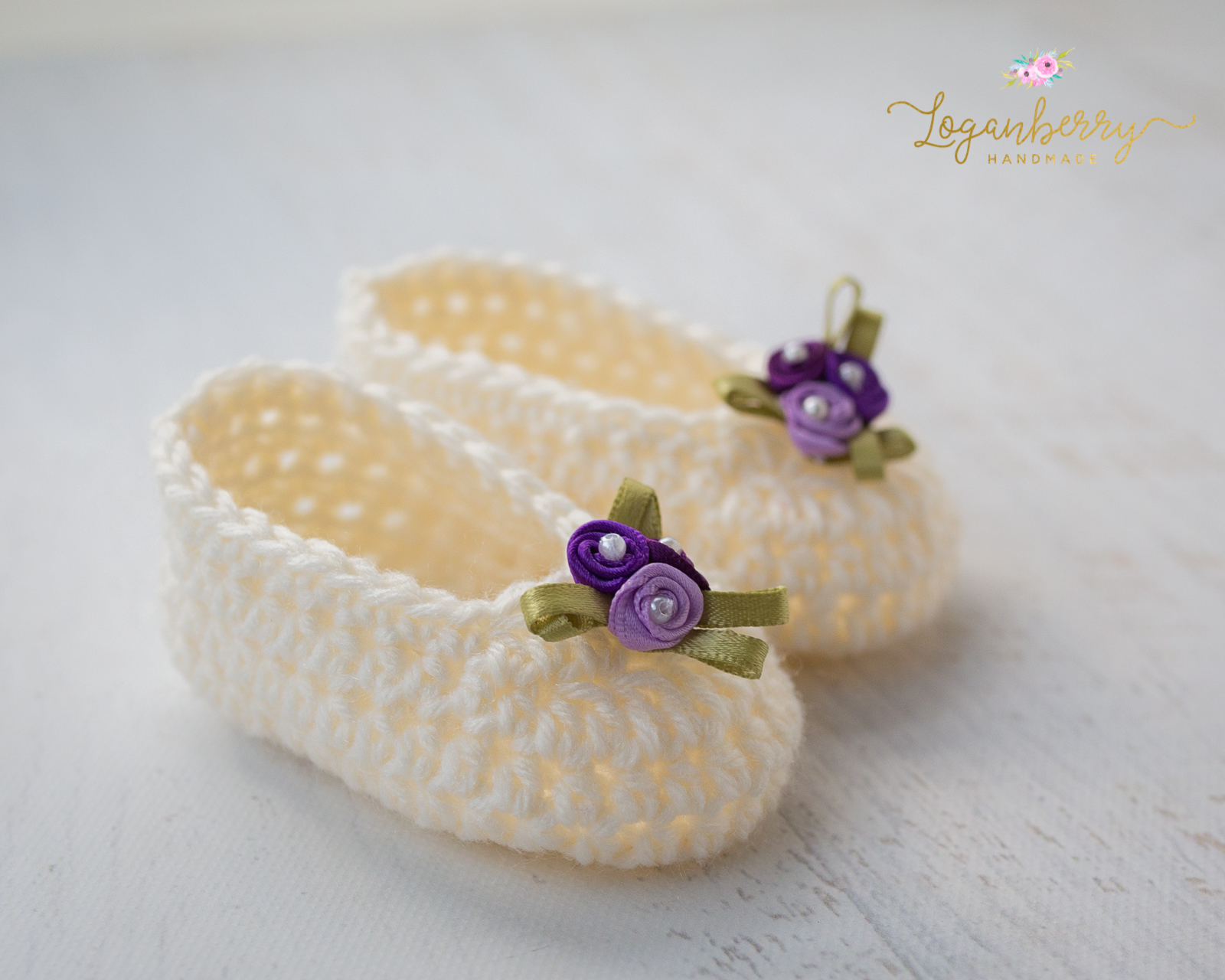Crochet Simple Baby Slippers Free Pattern Loganberry Handmade