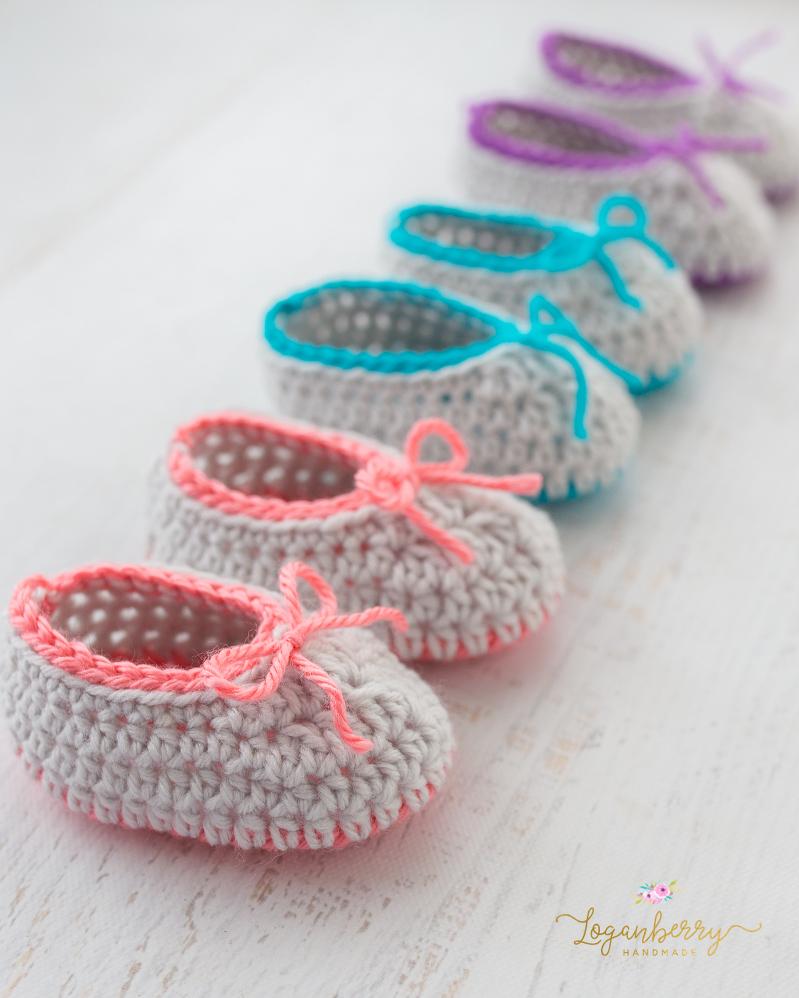 Neon Trim Baby Slippers - Free Crochet Pattern ...