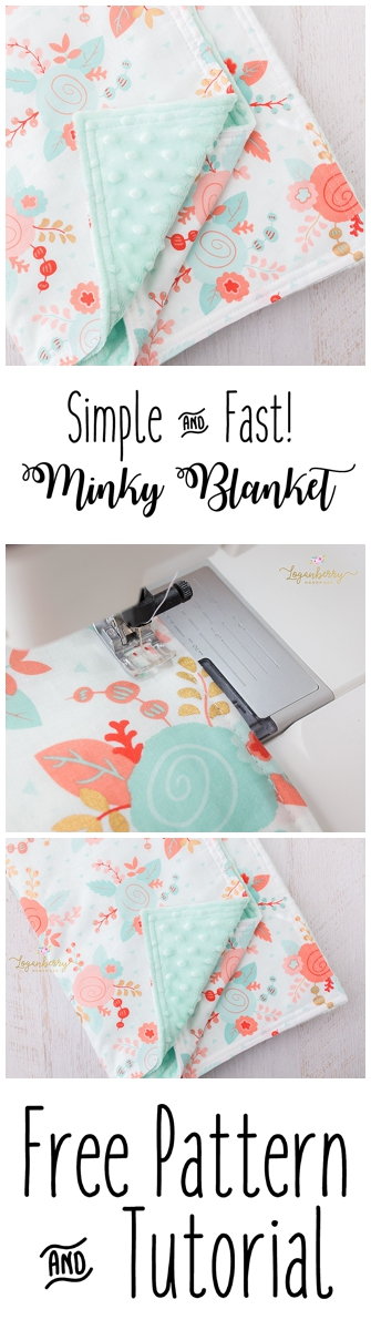 Minky Baby Blanket + Free Pattern, How to Sew Minky Blanket, Minky Blanket Tutorial, Easy Baby Blanket, DIY Minky Blanket