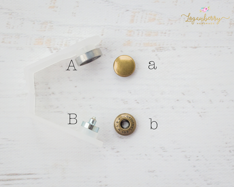 How to Install Snap Buttons + Sewing Tutorial, Dritz Anorak Snaps & Tools Kit, 12mm Snaps, Sewing hardware, brass buttons