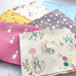 peter rabbit fabric, quilt bundle, rabbit and balloons, fabric collection