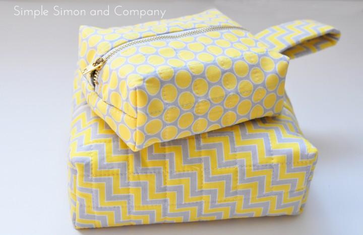 Box Zipper Bag Tutorial + Free Sewing Pattern, DIY, patchwork zipper bag, make-up bag, travel bag, easy sewing projects