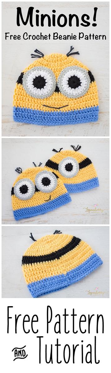 Crochet Minions Beanie Free Pattern Loganberry Handmade