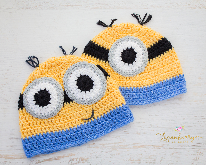 Crochet minions beanie free pattern loganberry handmade crochet minions beanie free pattern tutorial despicable me crochet hat for kids dt1010fo