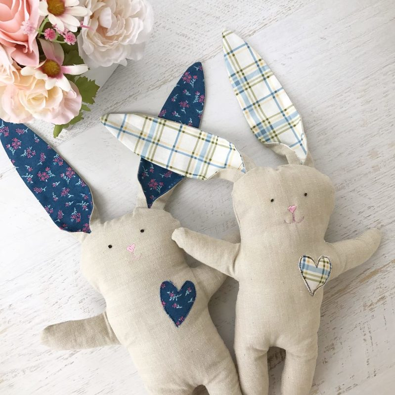 DIY Bunnies, Sewing Rabbits, Stuffed Bunny Dolls