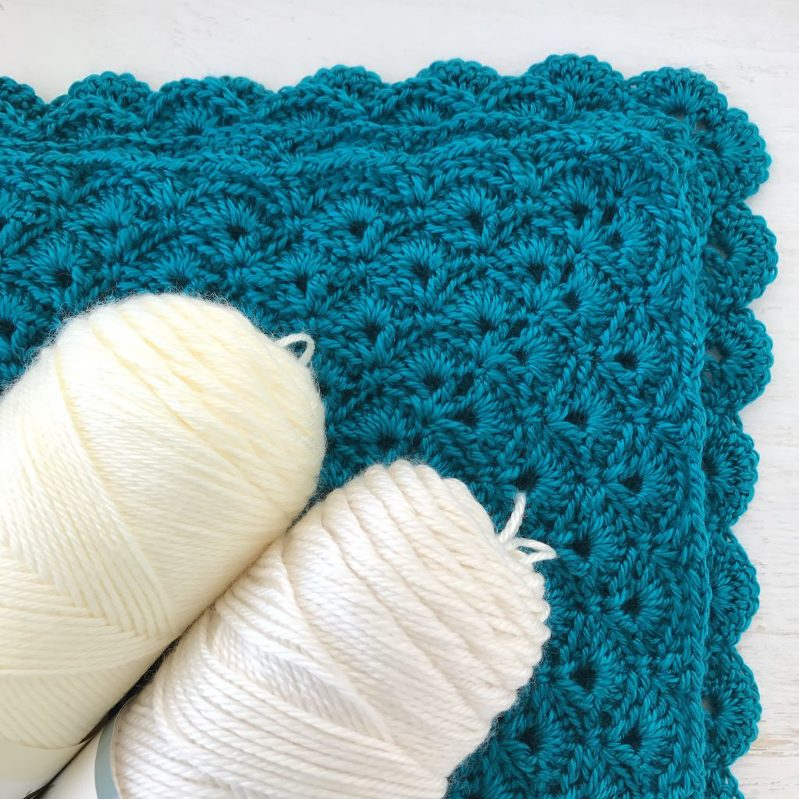 Teal Crochet Blanket