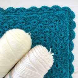 Teal Crochet Blanket