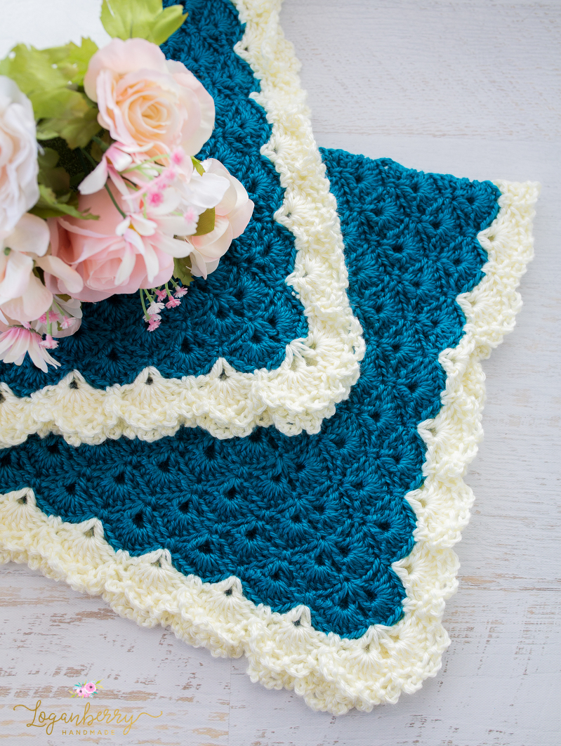 Antique Charm Crochet Blanket » Loganberry Handmade