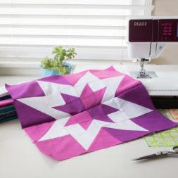 Quilt Star, Aurora Borealis Quilt, Star Quilt Block, Modern Quilt, Purple Star, Patchwork Block, Quilting, Sewing